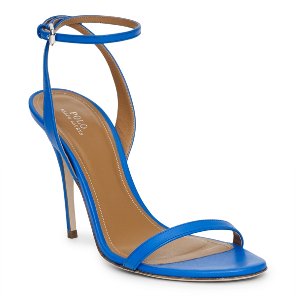 Ralph Lauren Leather Sandal Blue 7