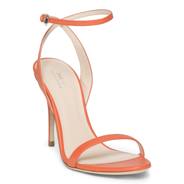 Ralph Lauren Leather Sandal Orange 8.5