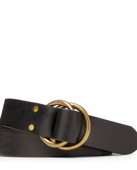 Tanned Leather O-Ring Belt