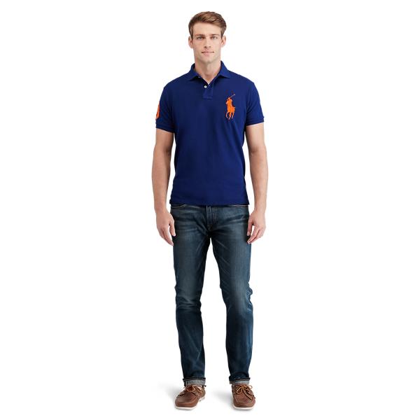 Ralph Lauren Custom Slim Fit Mesh Polo Fall Royal M