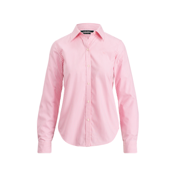 Ralph Lauren Cotton Button-Down Shirt Pink/White S
