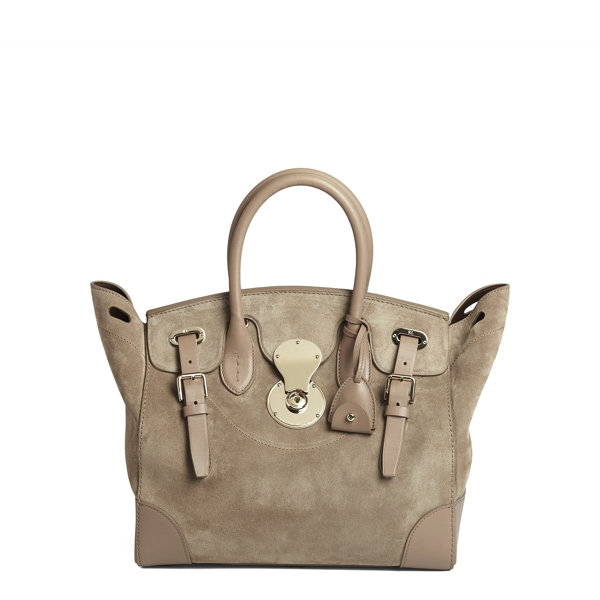 Ralph Lauren Suede Soft Ricky 33 Taupe One Size