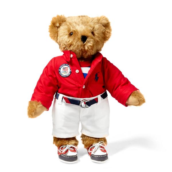 Ralph Lauren Team Usa Rio Polo Bear Red Multi One Size