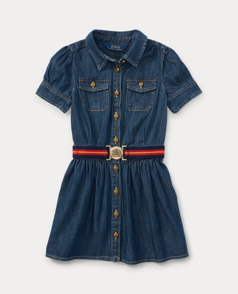 Belted Denim Shirtdress