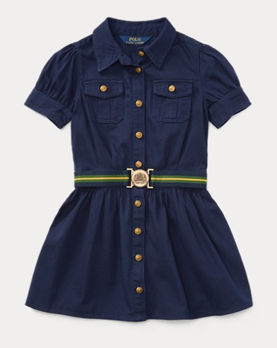 Belted Cotton Chino Shirtdress