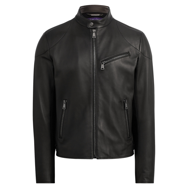 Randall Lambskin Biker Jacket by Ralph Lauren