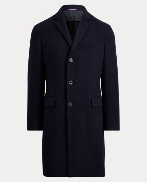 Wool-Cashmere Melton Topcoat