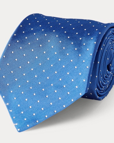 Polka-Dot Silk Narrow Tie