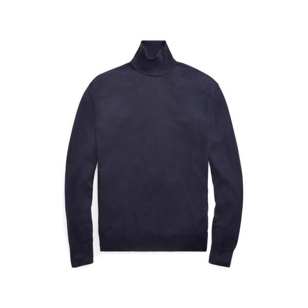 Ralph Lauren Cashmere Turtleneck Sweater Classic Chairman Navy L