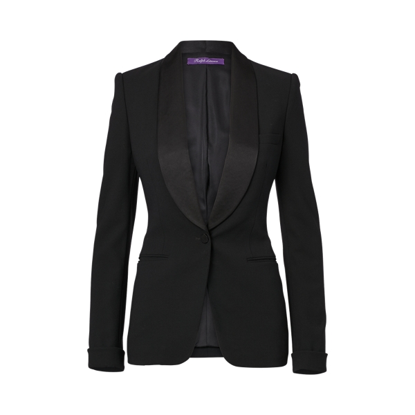 Ralph Lauren Sawyer Wool Tuxedo Jacket Black 2