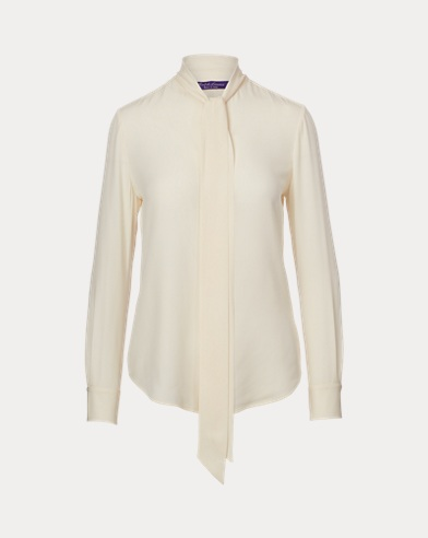 Sheryl Silk Necktie Blouse