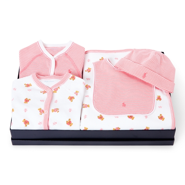 Ralph Lauren Take-Me-Home 5-Piece Gift Set Pink Multi 9M
