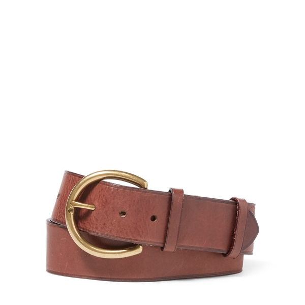 Ralph Lauren Burnished Leather Belt Brown M