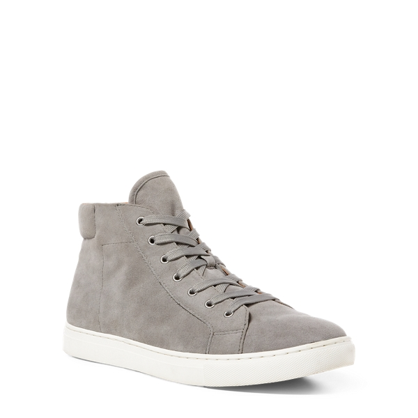 Ralph Lauren Dree Suede High-Top Sneaker Grey 10.5