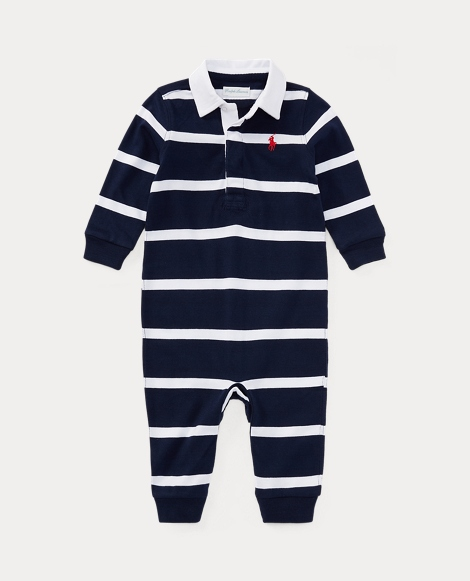 baby boy plaid cotton poplin shirt striped cotton rugby coverall