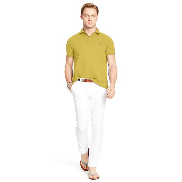 Ralph Lauren Custom Slim Fit Mesh Polo Fall Yellow Xl