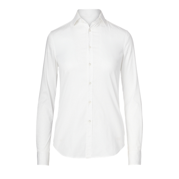 Ralph Lauren Charmain Stretch Poplin Shirt White 4