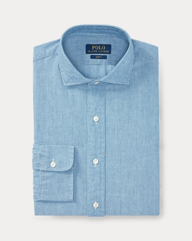 Slim Fit Chambray Shirt