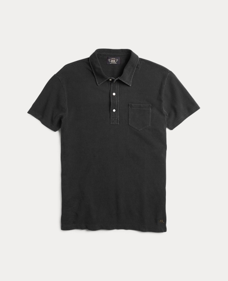 Indigo Cotton Pocket Polo