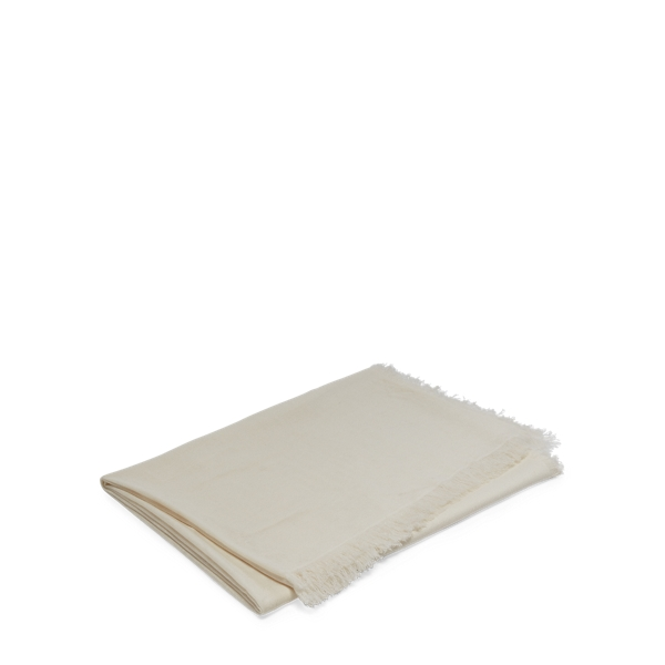 Ralph Lauren Everett Cashmere Throw Blanket Cream 50