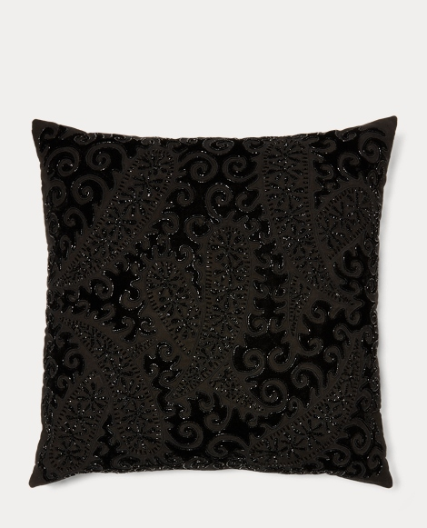 Paige Beaded Velvet Pillow