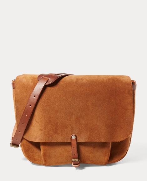 Roughout Leather Messenger Bag