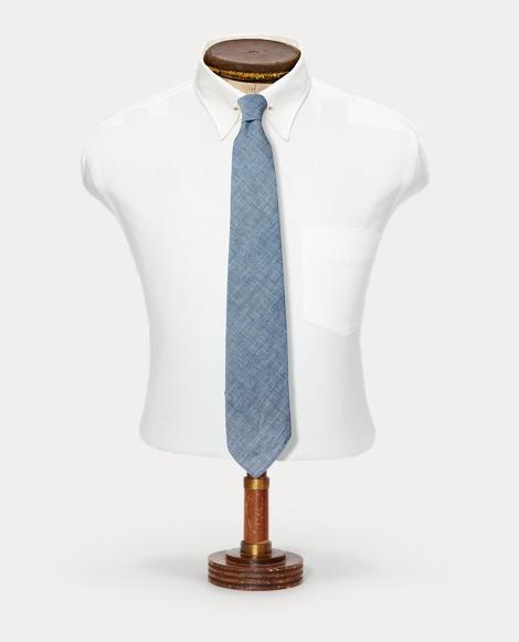 Handmade Indigo Chambray Tie