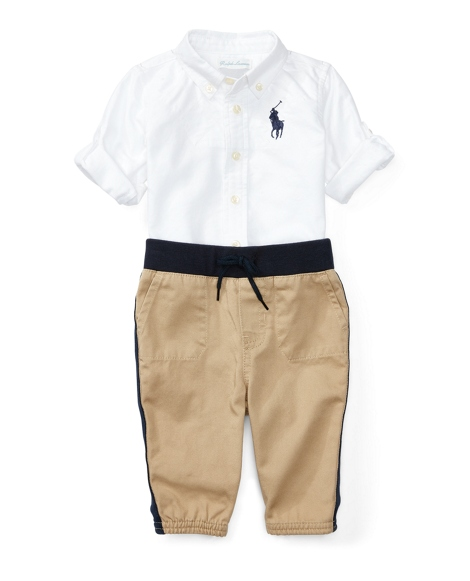 Cotton Oxford & Jogger Set