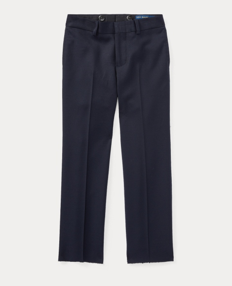 Flat-Front Wool Twill Pant