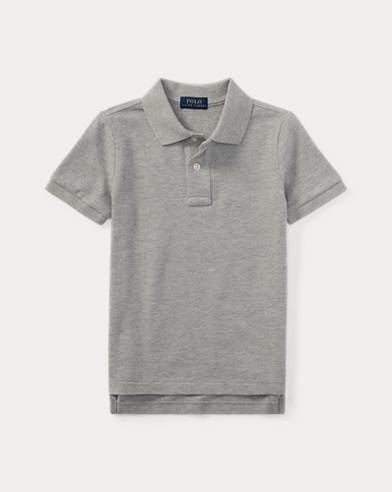 Boys' Cotton Mesh Polo Shirt