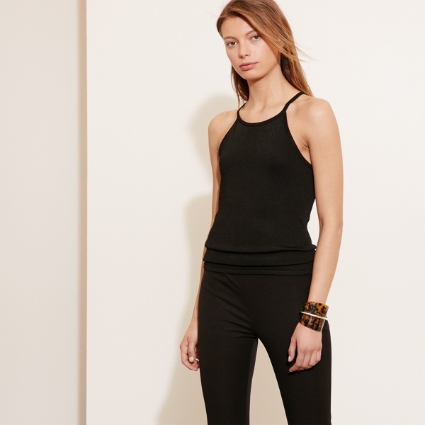 Ralph Lauren Knit Sleeveless Top Black M