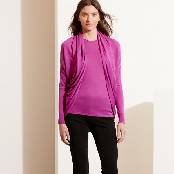 Ralph Lauren Silk-Blend Cardigan Pink S/M