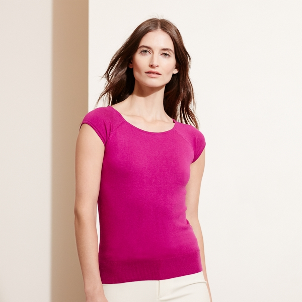 Ralph Lauren Silk-Cotton Sweater Pink M