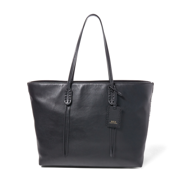 Ralph Lauren Leather Tote Black One Size