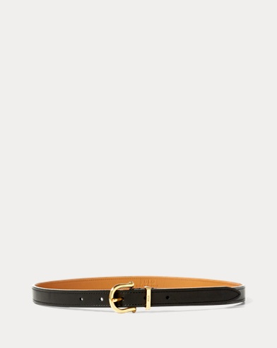 Skinny Burnished Leather Belt
