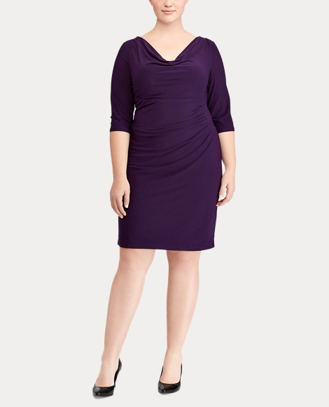Cowlneck Jersey Dress