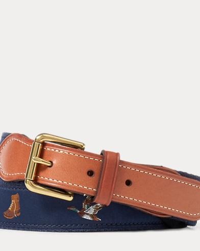 Embroidered Webbed Belt