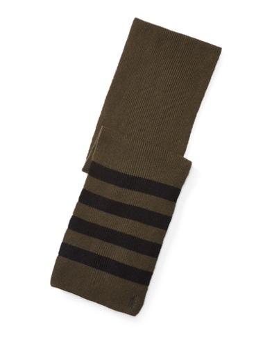Rib-Knit Wool-Cashmere Scarf