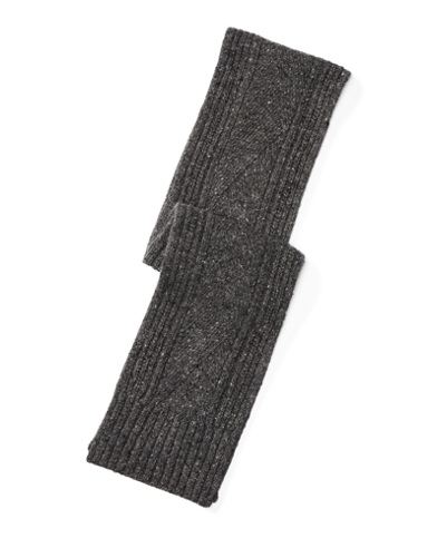 Aran-Knit Merino-Blend Scarf