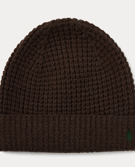 Waffle-Knit Merino Wool Hat