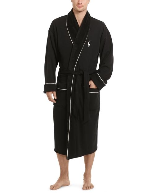 produt-image-0.0. Men Clothing Pajamas & Robes Fleece-Lined Shawl-Collar  Robe. Polo Ralph Lauren