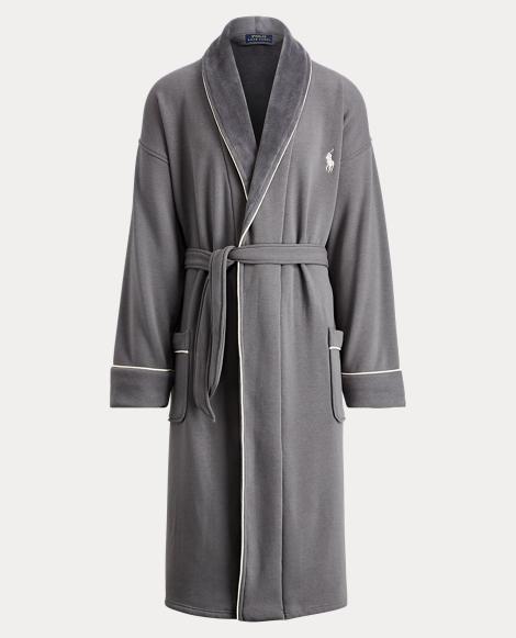 Fleece-Lined Shawl-Collar Robe