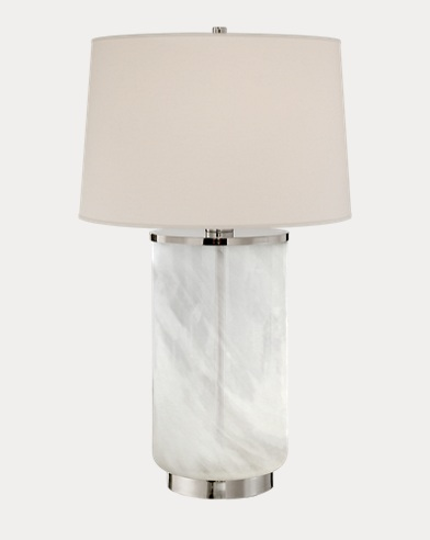Linden White Glass Table Lamp