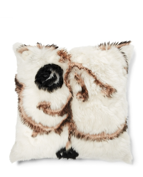 Lenorah Shearling Throw Pillow