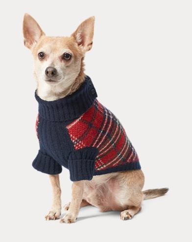 Plaid Wool-Blend Dog Sweater