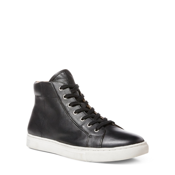 Ralph Lauren Dree Nappa High-Top Sneaker Black 10