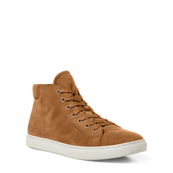 Ralph Lauren Dree Suede High-Top Sneaker Sand 10.5