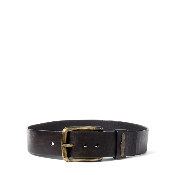 Ralph Lauren Mary Leather Belt Dark Brown Xs