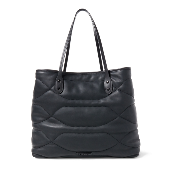 Ralph Lauren Quilted Leather Tote Black One Size