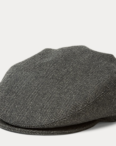 Wool Herringbone Driving Cap